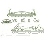休日の横浜スタジアムにて